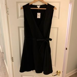 Jcrew black wrap dress